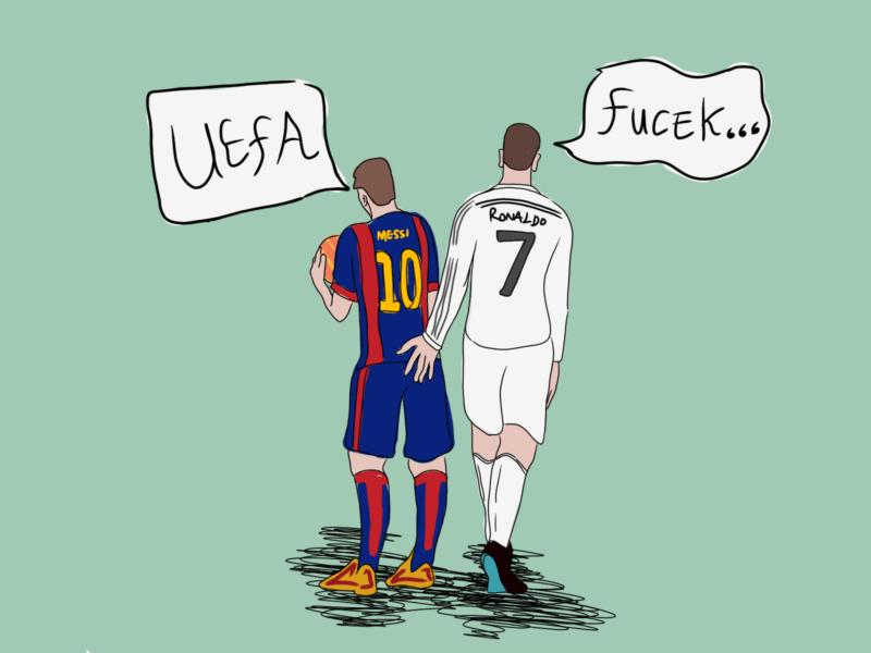 Ronaldo dan Messi tidak di UEFA