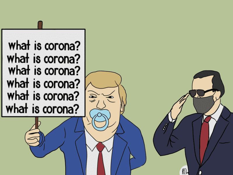 Donald Trump Debat Pandemi Biden